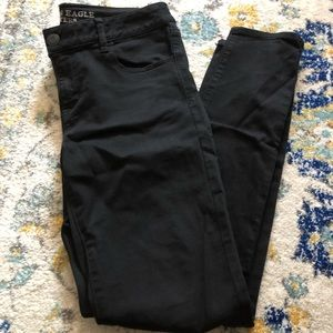 Black AEO Jeggings like new!